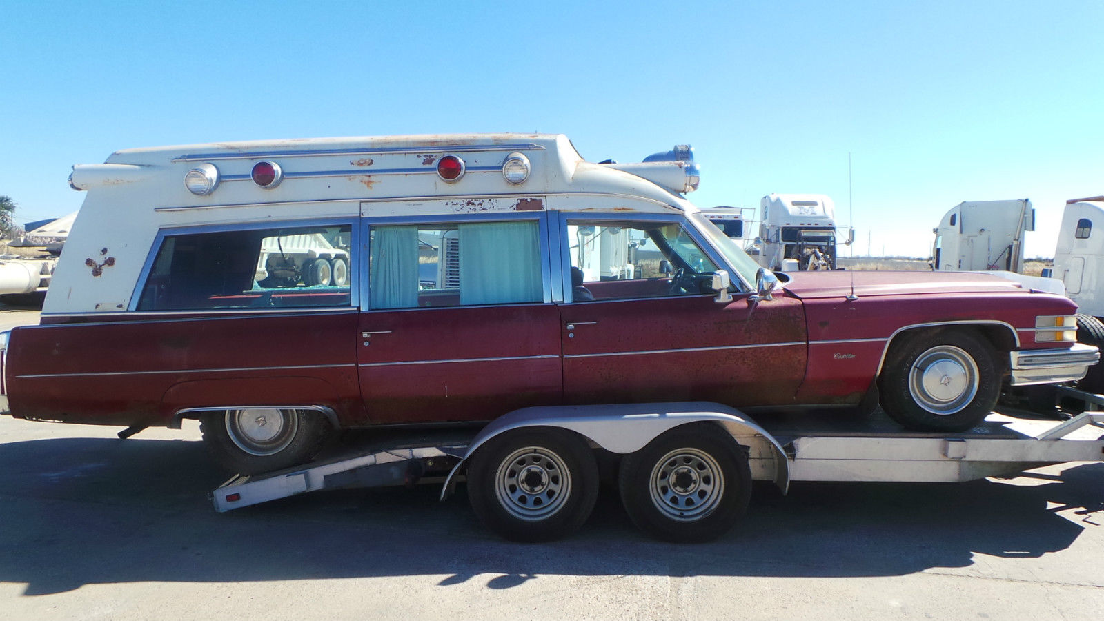 1974 Cadillac Ambulance Miller Meteor Hightop For Sale