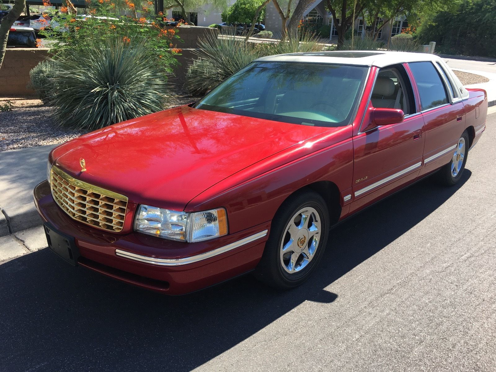 Shining Red Cadillac Deville With Only K Original Miles For Sale