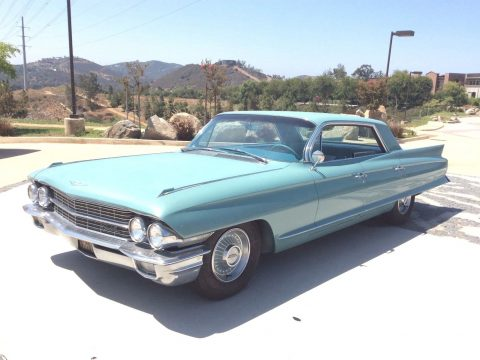 Turquoise 1962 Cadillac Deville 4 Door Hardtop for sale