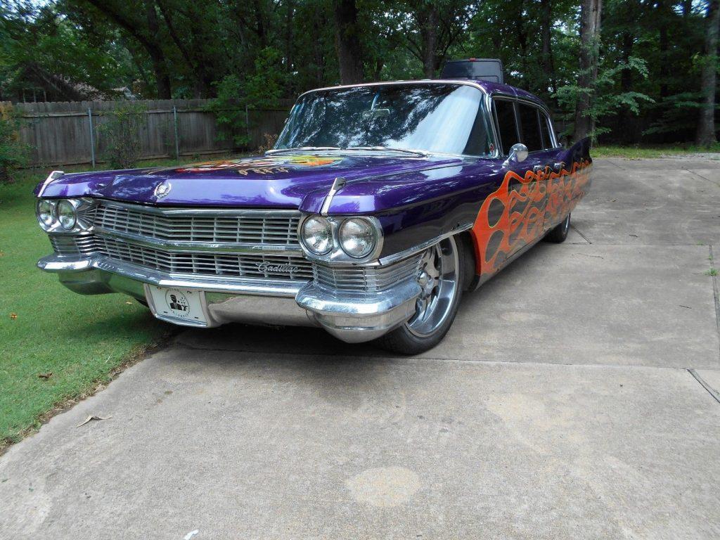 custom paint 1964 Cadillac Fleetwood limousine